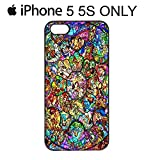 Disney All Character Diamond iPhone 4-4s-5-5s-5c Phone Mobile Case Cover (iPhone 5&5s, Black)