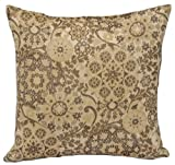 "Outdura Acrylic, 16""x16"", Antique Floral Tapestry; Reversible Indoor/Outdoor Decorative Throw Pillow; Made in the U.S.A"
