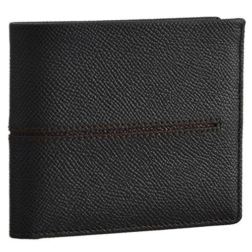 TOD'S(トッズ) 財布 メンズ カーフスキン 2つ折り財布 ブラック×ボルドー CHBB300-DOU-0IO5 [並行輸入品]