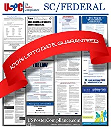 2016 South Carolina SC State and Federal all in one Labor Law Poster for Workplace Compliance Green