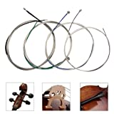 Cello strings Full Set (A-D-G-C) Universal Steel Core Nickel-Chromium Wound with Nickel-plated Ball End for 4/4 3/4 1/2 1/4 Cellos-Imelod (Color: Nickel Chromium)