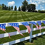 4th of July patriotic decorations party pack, includes a 24 feet stars and stripes banner, Patriotic American Flag Bunting 12 Ft. Long patriotic hanging swirl star shaped decorations!