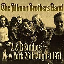 A & R Studios: New York 26th August 1971
