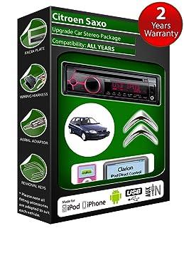 Citroën Saxo de lecteur CD et stéréo de voiture radio Clarion jeu USB pour iPod/iPhone/Android