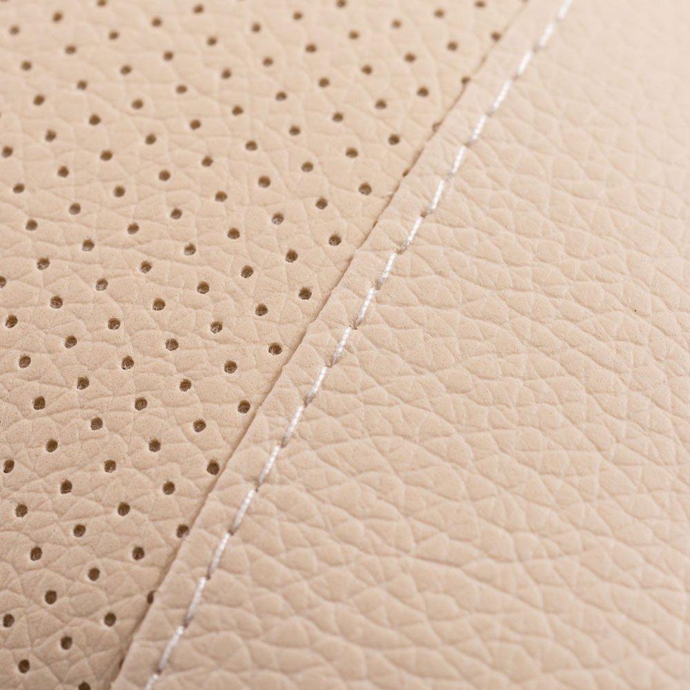 Aumo-mate 2 Pcs Beige Car Seat Neck Rest Pillow Pad Cushion High Quality (Beige)