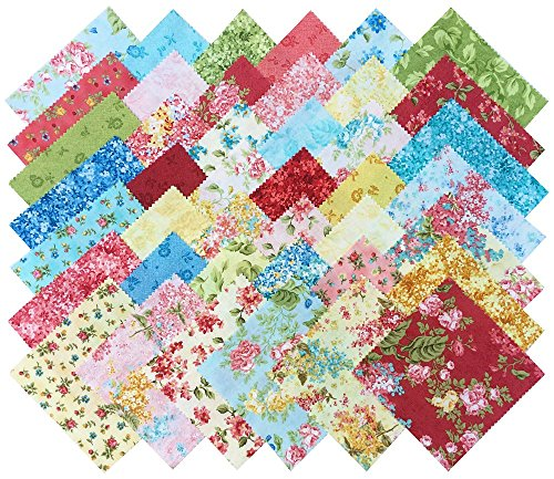 Eleanor Burns FOREVER LOVE Precut 5-inch Charm Pack Cotton Fabric Quilting Squares Assortment Benartex FELV5PK (Fabrics For Quilting compare prices)