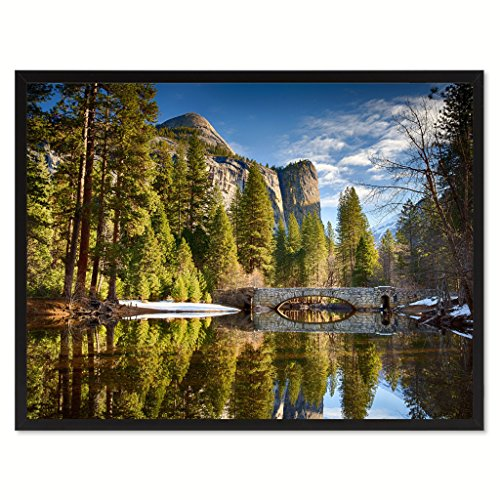 Stoneman Bridge Yosemite Landscape Photo Canvas Print Pictures Frames Home Décor Wall Art Gifts (Yosemite Picture compare prices)
