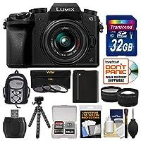 Panasonic Lumix DMC-G7 4K Wi-Fi Digital Camera & 14-42mm Lens with 32GB Card + Backpack + Battery + Flex Tripod + Filters + Tele/Wide Lens Kit