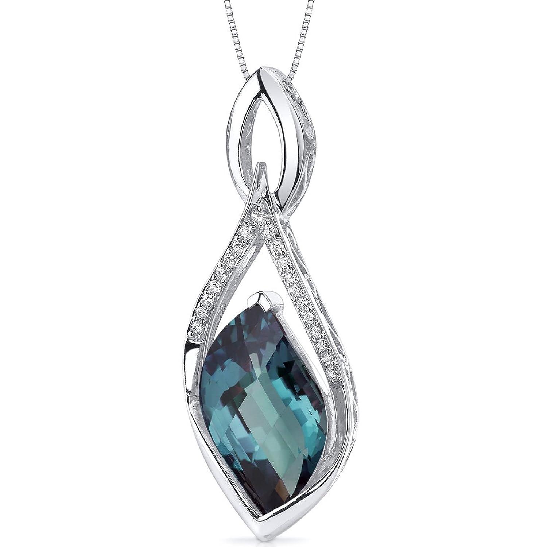 Revoni Damen Halskette 925 Sterling Silber Alexandrit 1.91 cm mehrfarbig PER-SP10666 jetzt bestellen
