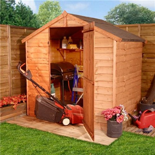 BillyOh 4'x6' Windowless Rustic Overlap Wooden Shed