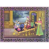 "Dolls Of India ""At The Service Of The King"" Reprint On Paper - Unframed (34.29 X 24.77 Centimeters)"