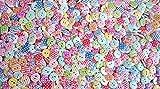 HdK-Versand Knöpfe für Kinder Knopf HOLZ Kinderknöpfe Bunt Mix Scrapbooking Mischung 15 mm zu 100 Stück (Farbauswahl ist leider nicht möglich) Punkte, Streifen und Blumenornament hergestellt von HdK-Versand
