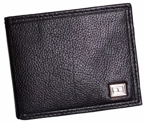 Men's Tommy Hilfiger Wallet Passcase Black w/ Logo