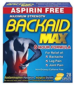 Backaid Max, 28 Count Caplets (Pack of 4)