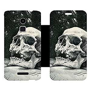 Skintice Designer Flip Cover with hi-res printed Vinyl sticker wrap-around for Coolpad Note 3 Lite