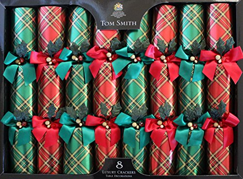 Tom-Smith-Luxury-Red-Green-Christmas-Crackers-Pack-of-8-Each-Containing-a-Distinctive-Surprise-Gift
