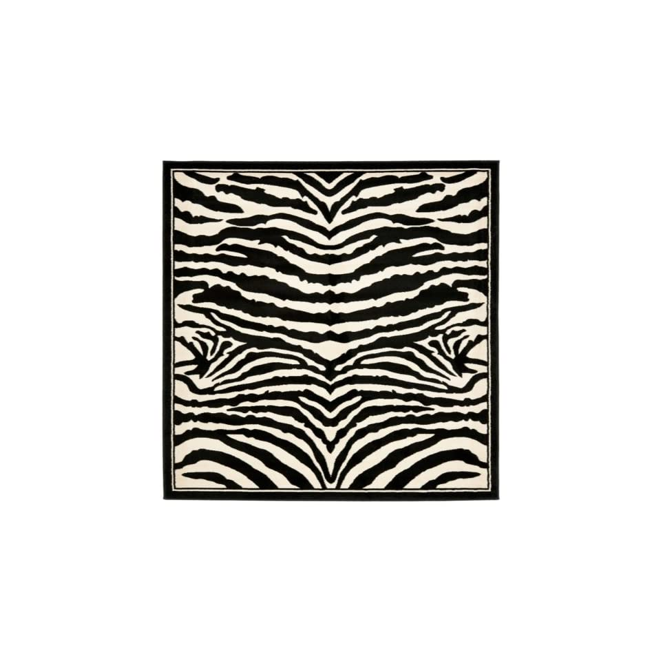 Safavieh Lyndhurst Collection LNH226A White and Black Square Area Rug (6 Square)