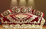 Tanya's Home Royal Velvet & Chinelle Diwan Set (Set Of 8 Pc inclusive of 5 Cushion Covers , 2 Bolster Covers , 1 single Bedsheet)