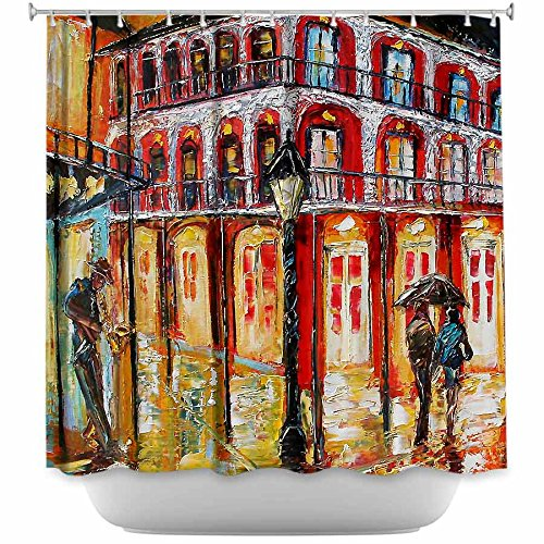Shower Curtain Artistic Designer from DiaNoche Designs by Karen Tarlton Unique, Cool, Fun, Funky, Stylish, Decorative Home Decor and Bathroom Ideas - New Orleans French Quarter