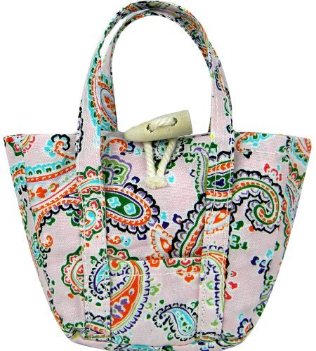 18 Inch Doll Accessory Light Pink Paisley Print Tote Bag, by Sophia's, Fits 18 Inch American Girl Dolls & More! Paisley Doll Purse