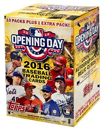 Mlb 2016 Topps Opening Day Baseball Blaster Box Trading Cards