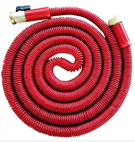 KLAREN 75' Expanding Hose, Strongest Expandable Garden Hose on the Planet. Solid Brass Ends, Double Latex Core, Extra Strength Fabric, 2016 design Fathers Mothers Day Gift US Seller (Pressure Washer Hose 75ft compare prices)