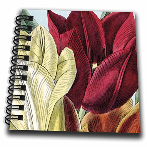 PS Vintage - Vintage Tulip Flowers - Mini Notepad 4 x 4 inch (db_203816_3)