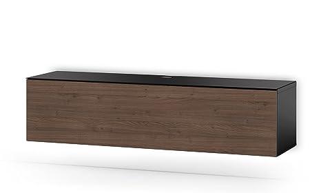 Sonorous STD 160F-BLK-TOR-WL Studio TV-Lowboard fur 177,8 cm (70 Zoll) Fernseher schwarz/tortona