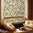 Bloss Magnolia Static Cling Window Film Self Adhesive Stained Glass Window Film (1.5ft By 6.5ft 1 Roll)