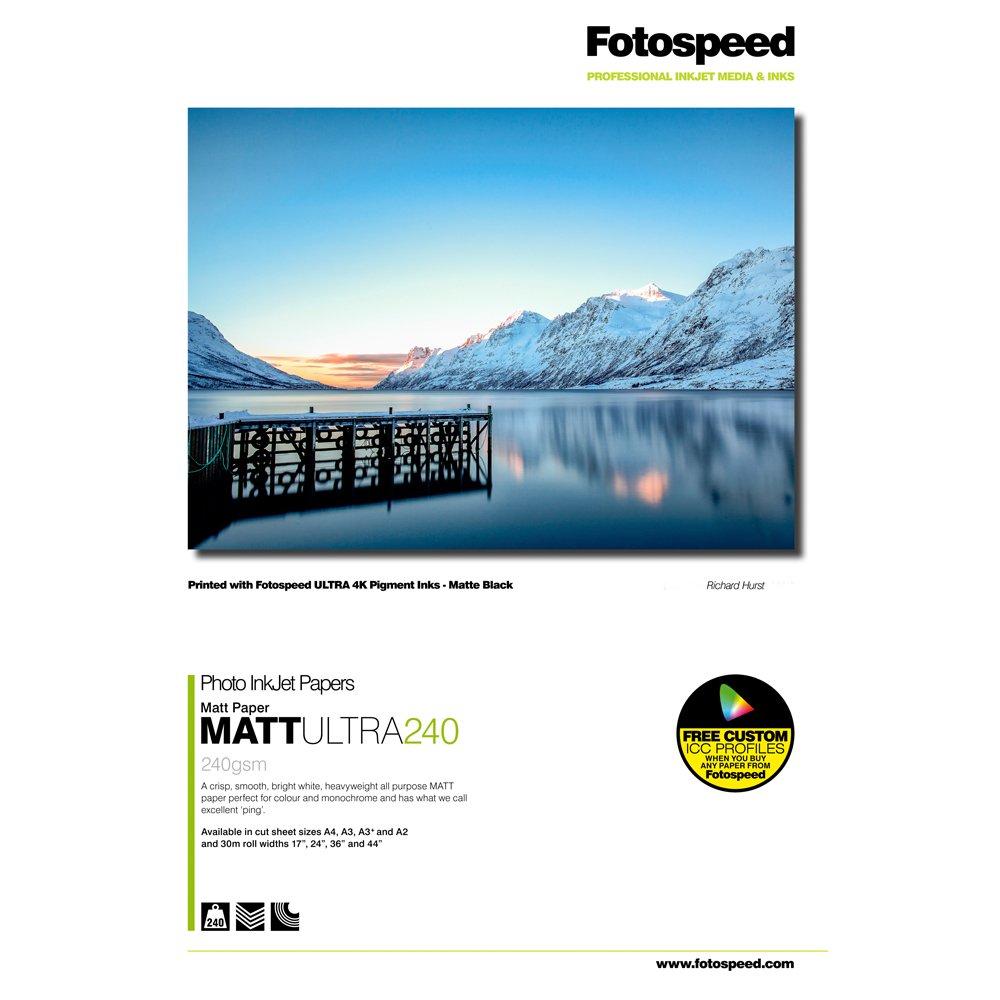 Fotospeed Matt Ultra Inkjet paper, 240gsm, A4, 100reviews