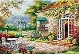 クロスステッチ刺繍キット DMC刺繍糸 花庭園