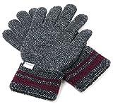 (ラングラー) Wrangler 手袋 メンズ グローブ スマホ対応 スマートフォン対応 ニット 日本製 ロゴ タグ 4color Free ミディアムグレー