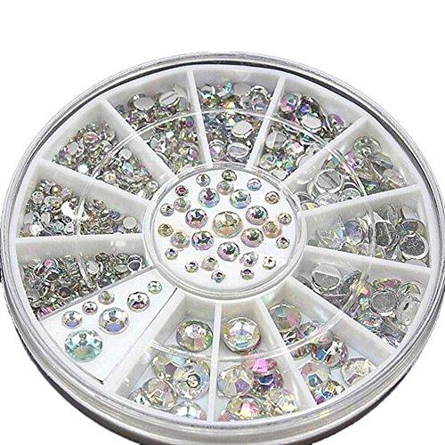 hot-nail-art-rhinestones-glitters-acrylic-tips-decoration-manicure-wheel3