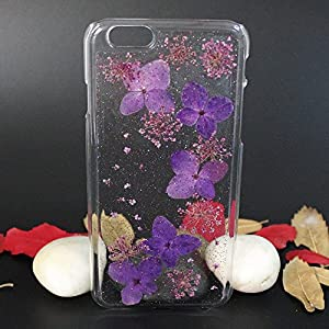 Beautiful Real Flowers Clear Slim Unique Design Phone Case for iPhone 6(9)