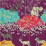 Tissu enduit violet