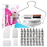 Cake Decorating Supplies - (SPECIAL CAKE DECORATION BUNDLE) With 48 PCS Icing Tips, Cake Rotating Turntable and More Accessories! Create Beautiful Cakes With This Complete Cake Set!