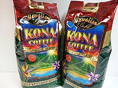 Hawaiian Gold Kona Whole Bean Coffee - 2 Pack (2 - 2 Lbs)