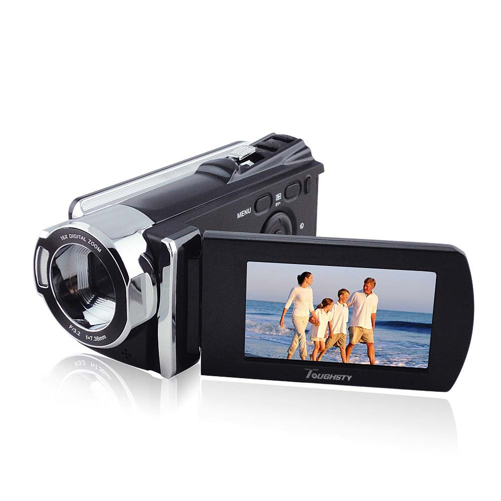 "Toughsty™ 2.7"" LCD 720P HD Realtime DV Camera 16x Zoom Video Camcorder 270 Degree Rotation"