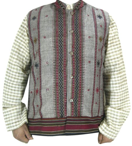 Traditional Woolen Mens Outerwear Jacket India Clothes