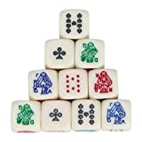Toy Games Games Accessories Dice Accessories Polyhedral Role Play Set of 10 for Game Polyhedral Multi Sided Acrylic Poker Dice (Color: BG (as shown))