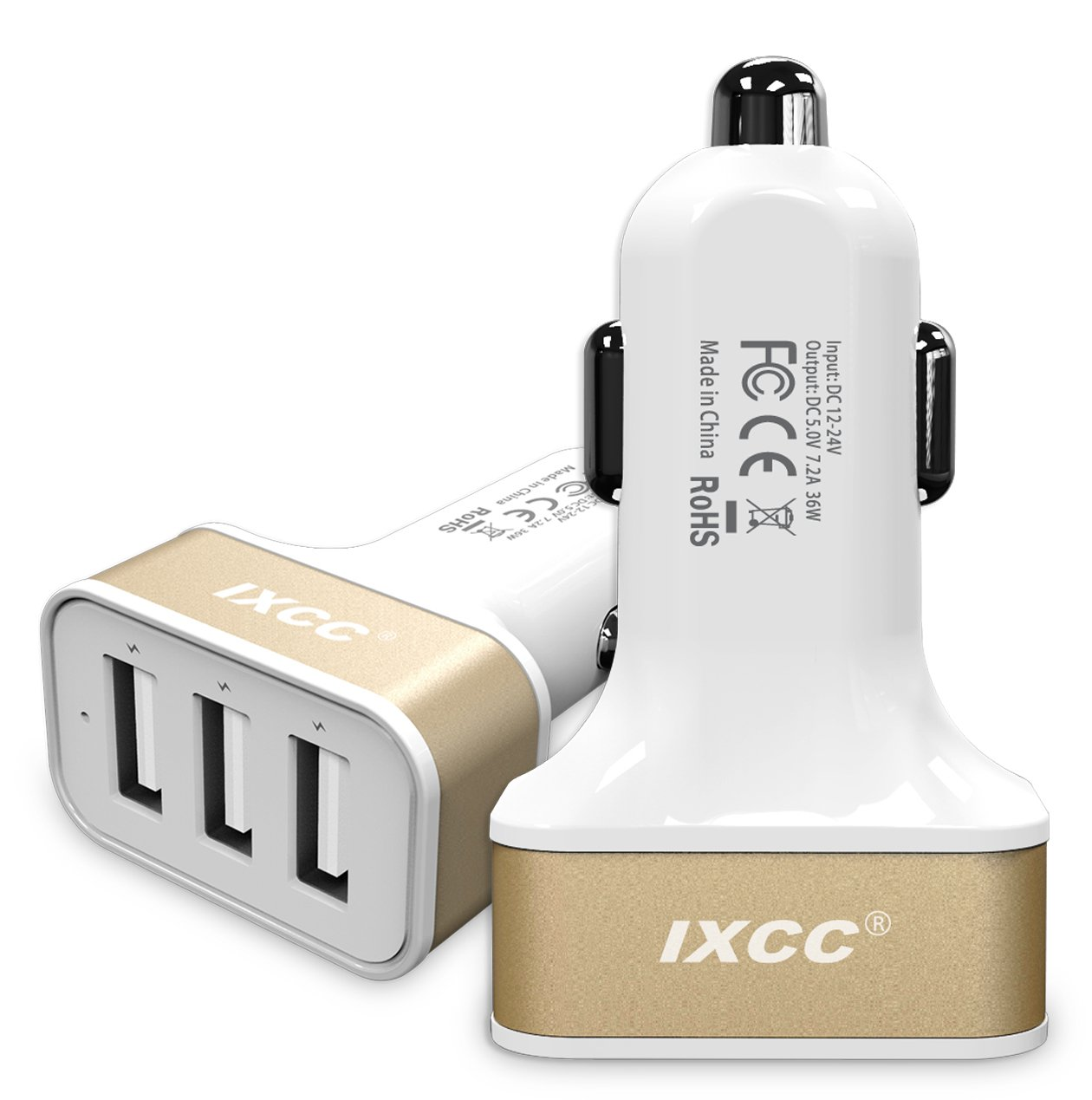 Dual USB Car Charger - 1. 0 - Puertos Universal, Smart Power Supply para iPods, iPhones, teléfonos celulares