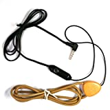 COOMAX Mini Hidden Spy Earphone Wireless Earpiece Headset (Coil Connector only) (Color: Coil connector)