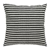 Ikea STOCKHOLM Cushion Pillow Cover + Duck feather Insert, Cotton Velvet black, white