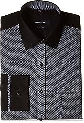 Greenfibre Men's Formal Shirt (78HT_40_Black)