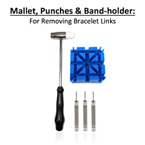 QwikFixxer Watch Repair Kit: 16 Universal Tools, Case Wrench, Watch Band Tool, Bonus Spring Bars