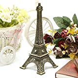 13 CM Bronze Tone Paris Eiffel Tower Figurine Statue Vintage Alloy by 24/7 store