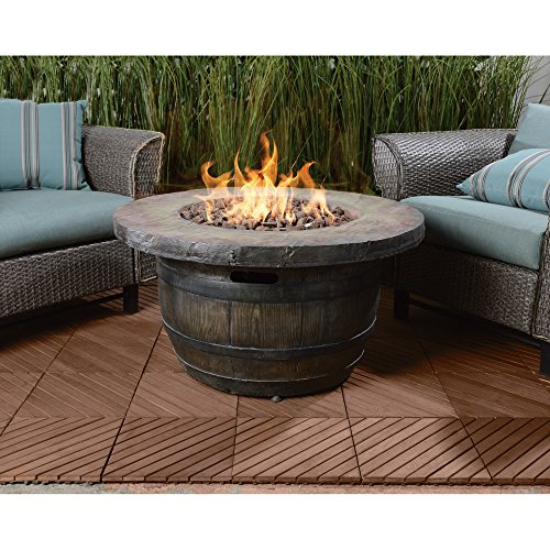 Vineyard Rustic Propane Fire Table 36in Dia X 18inh Best