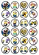 Despicable Me Minions Edible PREMIUM THICKNESS SWEETENED VANILLA, Wafer Rice Paper Cupcake Toppers/Decorations