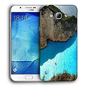Snoogg Ocean On The Mountain Side Printed Protective Phone Back Case Cover For Samsung Galaxy A8