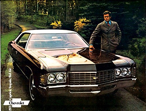 CHEVROLET DEALERSHIP SALES BROCHURE FOR 1971 CHEVY'S - INCLUDES; Caprice, Impala, Bel Air, Coupes, Sedans, Convertibles- ADVERTISMENT - LITERATURE - 71 CHEVY